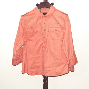 Talbots peach color pullover blouse/top